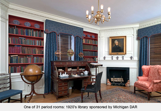 One of 31 period rooms - 1920s Library sponsored by Michigan DAR