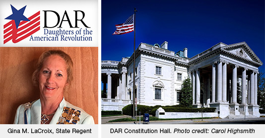 Gina LaCroix and the DAR Constitution Hall