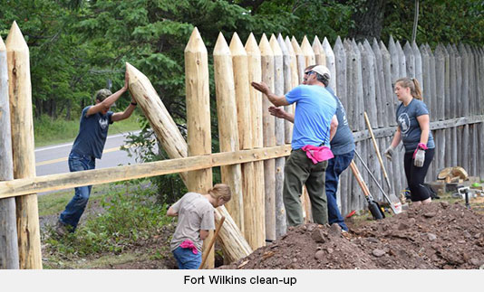 Fort Wilkins clean-up