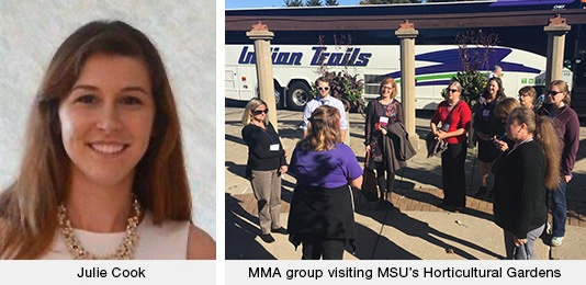 Julie Cook | MMA group visiting MSU's Horticultural Gardens