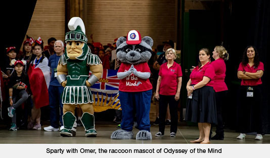 Sparty with Omer