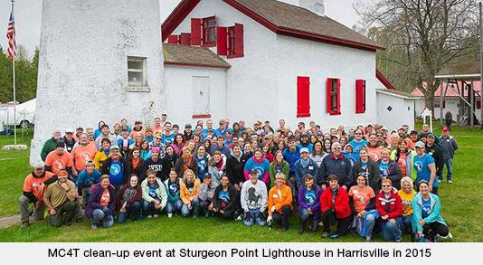 Sturgeon Point clean-up