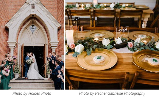 Wedding Shot and Table Setting