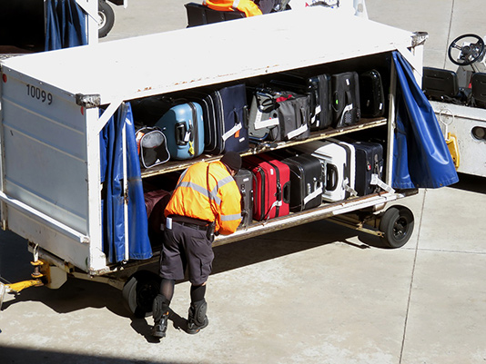 Luggage in cart