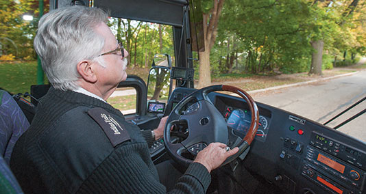 Indian Trails motorcoach driver